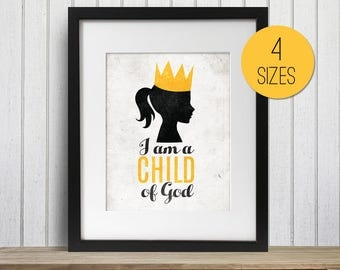 LDS 2018 Primary Theme - I am a Child of God  Print Bundle Girl Silhouette