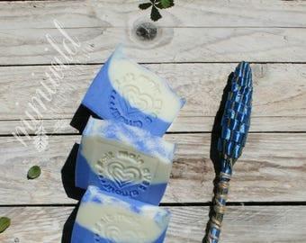 Lavender and Sage-natural vegetable Soap-vegan-Tuscan olive oil SOAP