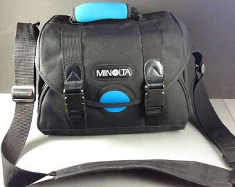 Minolta Black/Teal Gadget 35mm & Digital Camera Bag