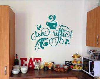VInyl Wall Art - Tea-riffic Kitchen Decal