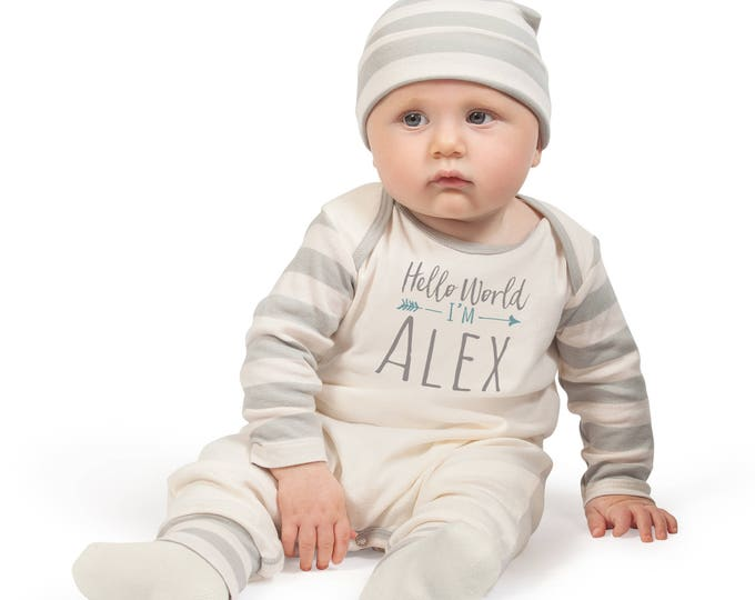 Personalized Baby Romper, Take Home Custom Bodysuit, Baby Name Romper, Customized Baby Neutral Romper TesaBabe