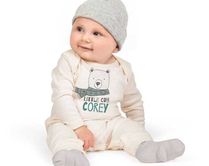 Personalized Baby Boy Romper, Take Home Custom Bodysuit, Baby Boy Name Romper, Customized Baby Neutral Romper TesaBabe RC810IY0000