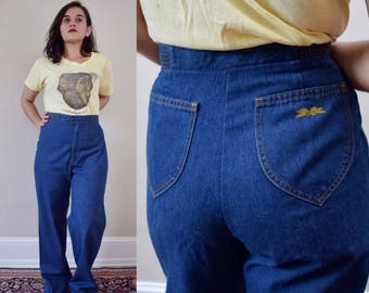 70s High Waist Levi's Wide Leg Jeans // Volup Denim // 32 Tall