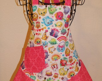 Child's Small Pink Shopkins Apron