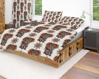 boho elephant comforter or duvet covertwin full queen king rug curtains