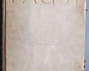 Antique Faust (The Fist) Eine Tragödie. Parts I & II   Printed 1912 - Fine Luxury Vellum Binding TEIL   Johann Wolfgang Von Goethe