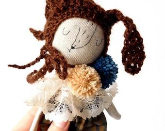 Linen Teddy bear | Dressup doll | Fabric doll | Heirloom doll | Henry