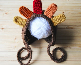 Thanksgiving Baby Hat, Turkey Hat, Turkey Baby Hat, Newborn Turkey Hat, Crochet Turkey Hat, Baby Thanksgiving Hat, Baby Hat, Fall Baby Gift