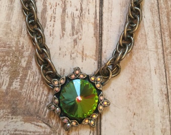 18mm Crystal Vitrail Swarovski Necklace