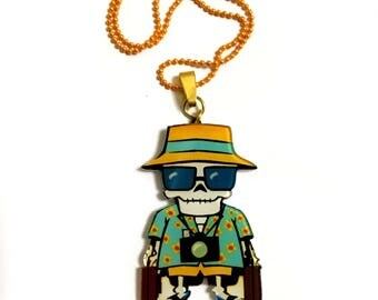 Fear and Loathing in Las Vegas, Johnny Depp, Skull, Halloween, Terry Gilliam, 90's, Movie, Film, Hunter S. Thompson, Book necklace, Humor
