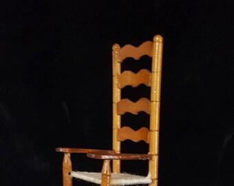 Dollhouse Miniature High Back Rocking Chair