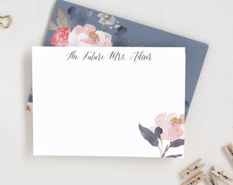 Personalized Thank You Cards. Wedding Stationary. Thank You Cards Set. Bridal Shower Thank You Cards. Watercolor Notecards. Gifts for MRS20