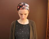 Stretchy Floral Velvet Headcovering