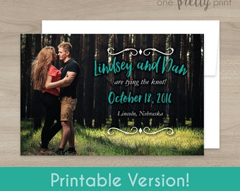 Personalized Photo Save the Date Postcard - Printable Version