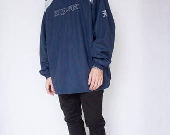KIPSTA SWEATSHIRT-top, sporty, 90s, football, nike, kappa, vaporwave, hip hop, oversized, activewear, blue, gray, long sleeve-
