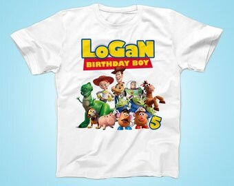 Toy Story Birthday Tshirt, Buzz Birthday Shirt,  Personalized Party Tshirt