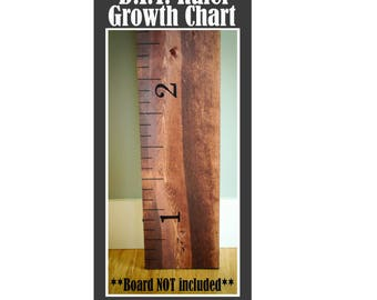 D.I.Y. Growth chart ruler. Board NOT included. Ruler growth chart kit. Children's growth chart. Growth chart vinyl. Vinyl decal. ruler decal