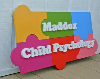 3D Puzzle Wood Business. Wooden puzzles. Custom Company Name Logo Sign. Wooden outdoor company sign.