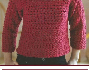 Instant Download - PDF-  Pretty Off The Shoulder Top Crochet Pattern (AD65)