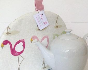 Tea Cosy, Flamingos Tea Cosy, Flamingos Kitchen Accessory, Gift for Her, Kitchen, Time for Tea! Pretty Flamingos, Tea