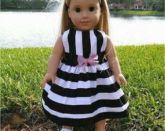 18 inch Doll Clothes, 18 inch Doll Dress and Headband, 18 inch Doll Summer Dress