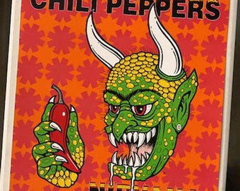 Red Hot Chili Peppers Nirvana Pearl Jam San Francisco 1991 Concert Poster 2nd