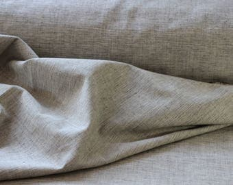 Grey Marl Crossweave 100% Organic Cotton Fabric