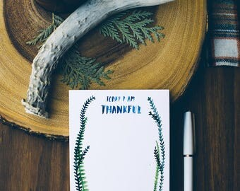 Today I Am Thankful Notepad by Little Truths Studio