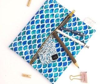 Mermaid Lover Large Pencil Case or Make Up Bag