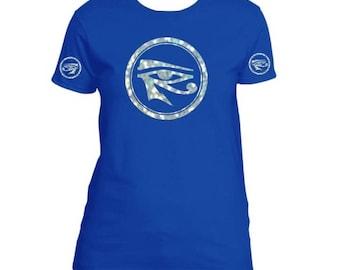 African Clothing for Women ~ Eye of Ra ~ Kemetic Shirt ~ Eye of Heru ~ Eye of Horus ~ Egyptian Clothing ~ Queen Shirt ~ 3rd Eye Shirt
