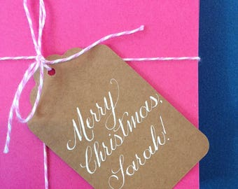 Custom Gift Tags | Calligraphy Tags | Kraft paper tags
