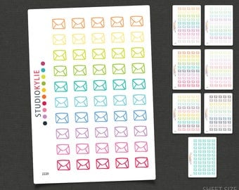 Envelope Back Icons  - Happy Mail Stickers - Planner Stickers -Repositionable Matte Vinyl to suit all planners