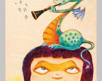 The Clarinetist - Fun Dragon Print
