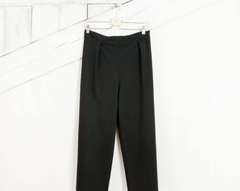 Cropped Pants - Black trousers with elastic band - Culottes - Boyfriend trousers - Cozy trousers - oversized trousers -