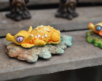 Baby leaf dragon fantasy art miniature creature