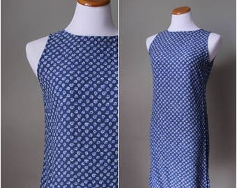 1990s New York & Co. Blue Spring Time Dress