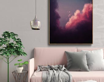 Abstract Art , Abstract Painting , Cloud Painting , Wall Art , Modern painting