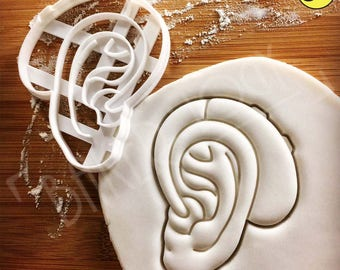 Hearing Aid cookie cutter | biscuit cutter | Outer Human Ear Medical Device audiologists hearing loss aids deaf awareness | Bakerlogy