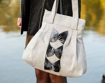 Grey Handbag, Shoulder Handbag, Gift for Her, Recycled Handbag, Ladies Handbag, Handbag, Girlfriend Gift, Recycled Handbag, Grey Bag, Grey