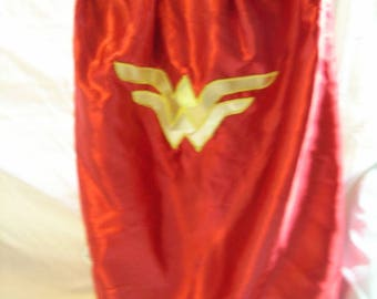 Girls superhero cape, wonder woman, girls can be heroes too, dress up, costume, Christmas, birthday, adult size, girl power