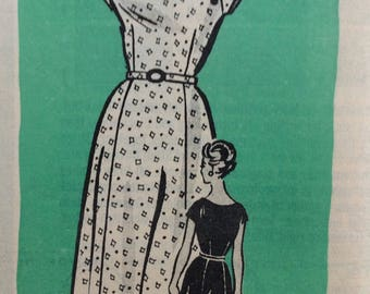 Mail order 9418 misses half size dress size 20 1/2 size 20.5 bust 41 vintage 1960's sewing pattern  Uncut  Factory folds
