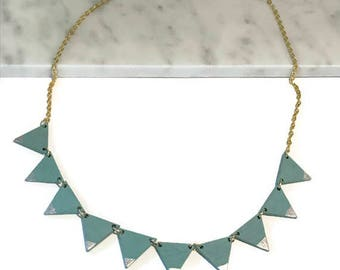 Banner Necklace | Triangle banner necklace | Gold necklace | Bunting, trending