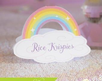 Unicorn Place Card, Rainbow Place Card, Unicorn Food Tent Card, Rainbow Food Tent Card, Unicorn Party, Unicorn Birthday Party, Unicorn