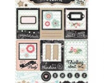 Empheria Studio Light Creative with Chalk thinking about you Party Photo mounts die cuts,  200gsm paper empheria for card and scrapbooking