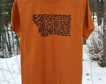 CLEARANCE- Mens Montana Antler and Fish design shirts