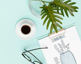 Bujo Saving Goal | Bullet Journal Template, budget tracker, blank bujo printable, bullet journal printable, saving tracker, money tracker