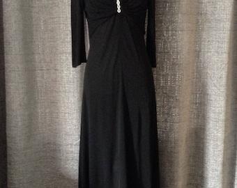 Vintage Black Evening Dress Size 10