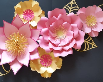 Paper flower wall decor, Paper flower for nursery, Nursery paper flowers, Paper flower backdrop