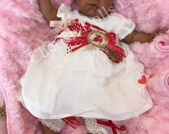 "NEW! - Reborn baby afro caribbean/american doll girl Kendal 22"" 6lb 7oz painted hair open brown eyes realistic my fake baby childrens UK"