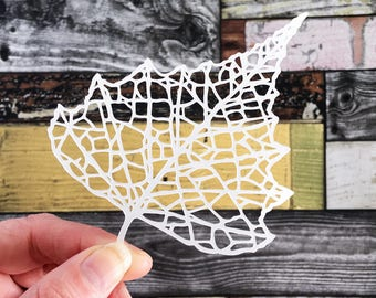 Leaf Paper Cut / Paper Cut / Paper Leaf / Paper Foliage / Paper Leaves / Leaf Decorations / Paper Wall Art / Paper Cut Art / Paper Cut Gifts